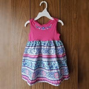 Children's Place Pink & Blue Floral Dress
